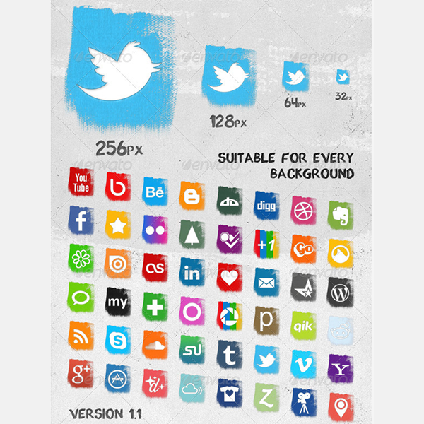 splash social media icons