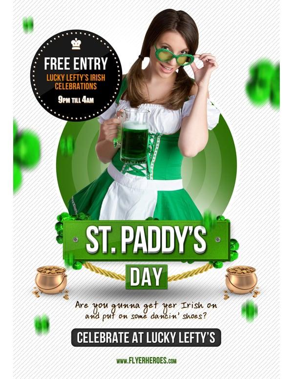 st patricks day free flyer flyerheroescom