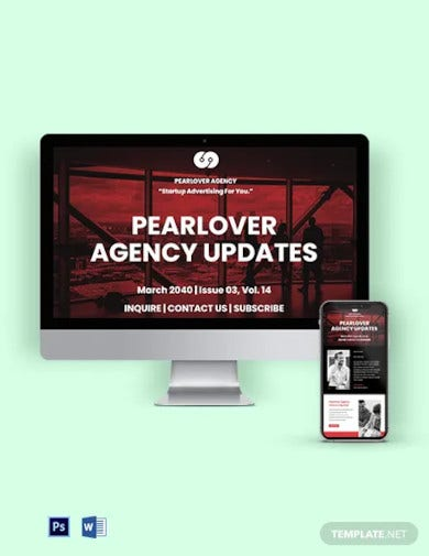 startup agency email newsletter template