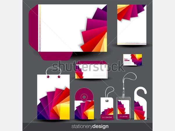 stationery template design with card
