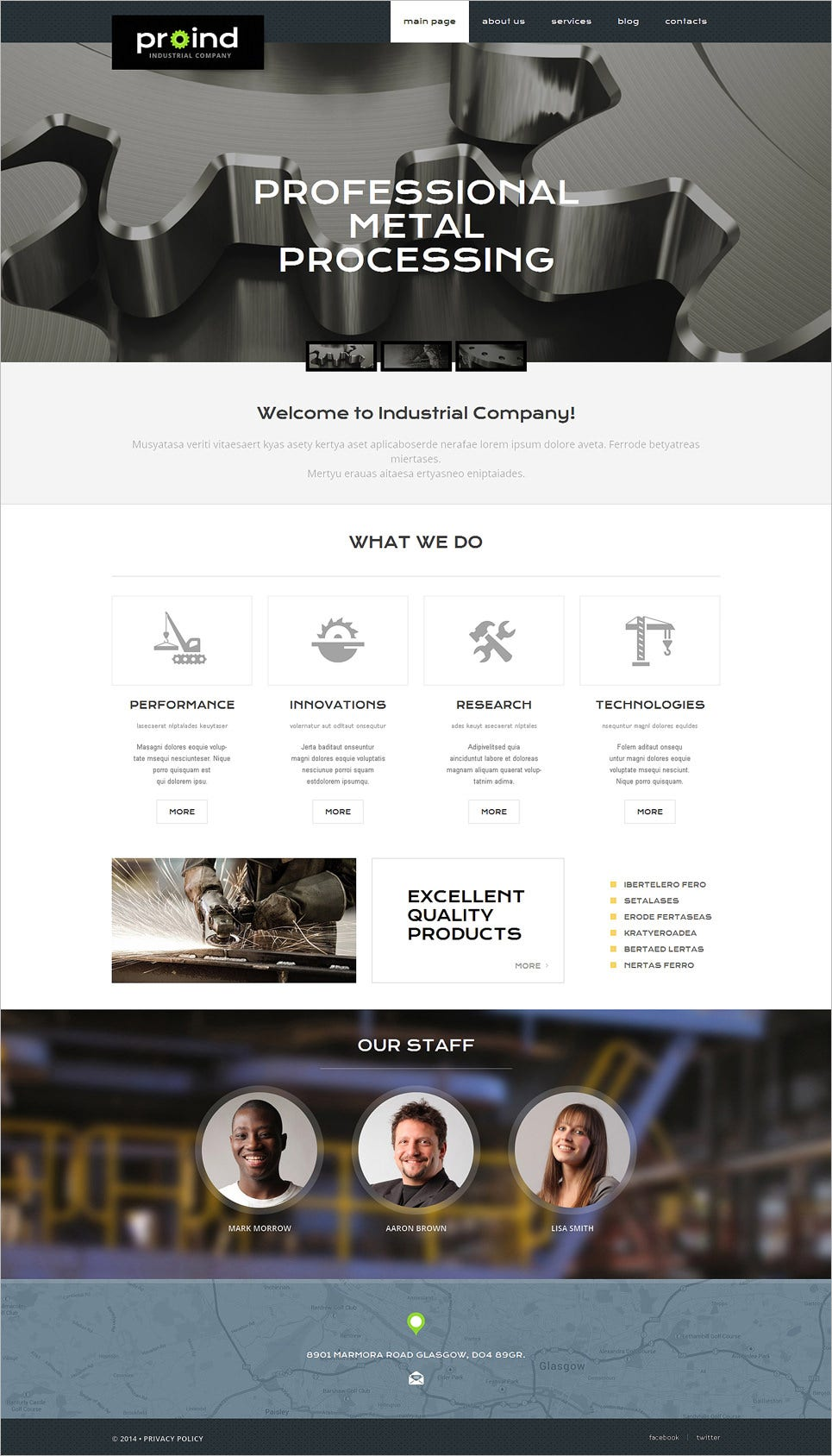 steelworks responsive php website template