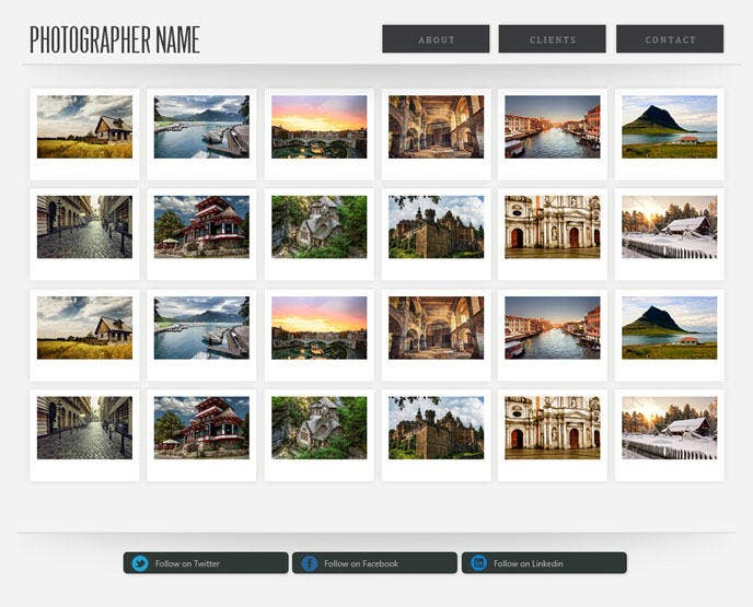 Stylish PHP Photography Website Template