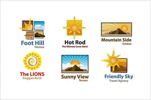 sun logo design templates