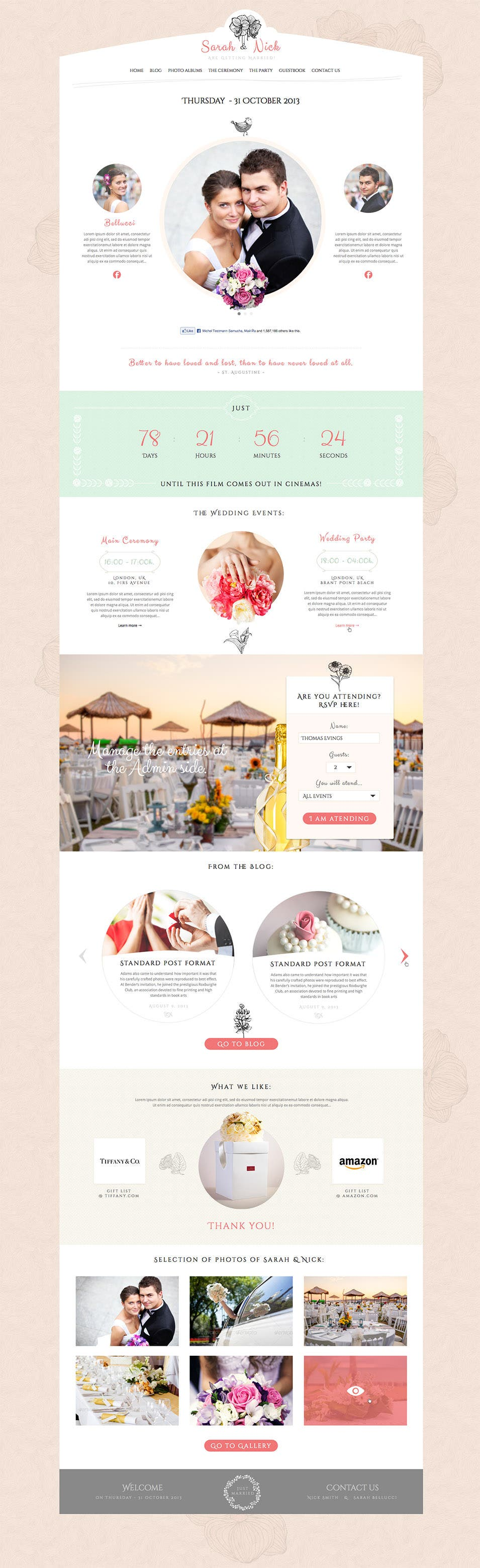 19+ Best Wedding Event Planner Website Templates | Free & Premium ...