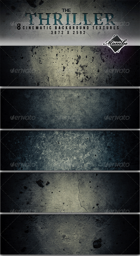 the thriller cinematic background textures set