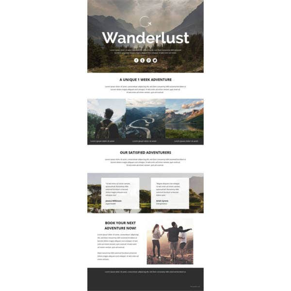 travel-email-newsletter-template