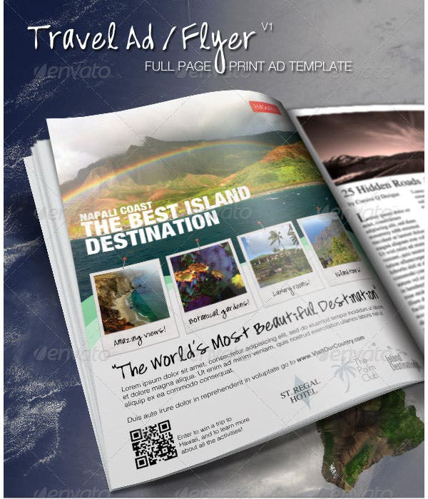 travel print ad flyer