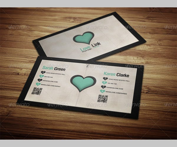Two Sides Business Love Card
