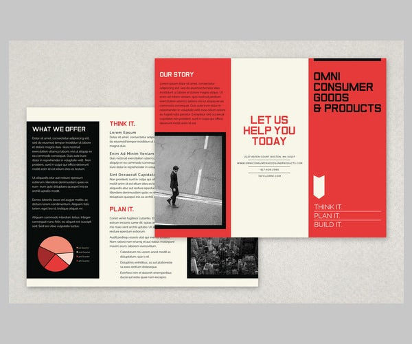 12 modern business brochure psd templates free for Company brochure template free
