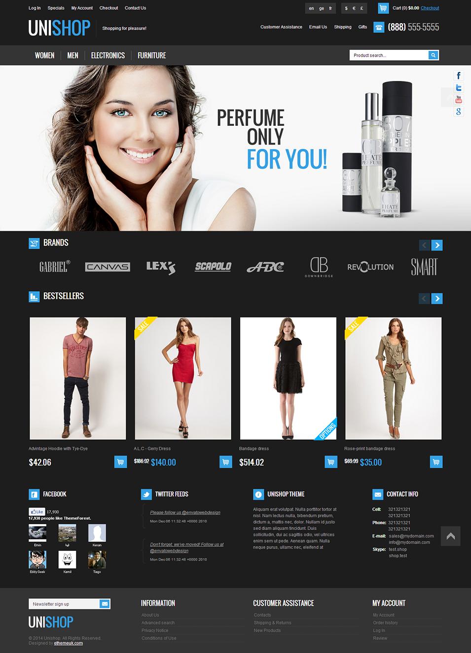 Unishop - Responsive osCommerce Theme