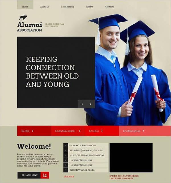 university education website theme template1