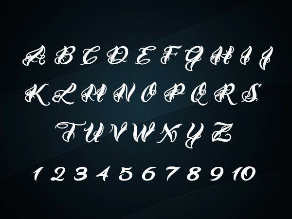 Calligraphy fonts for tattoos free premium templates