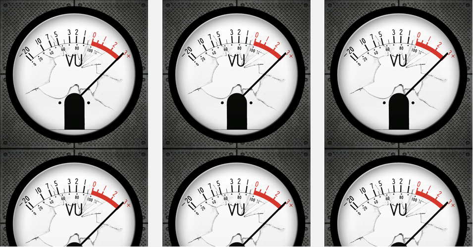 vu meter twitter background