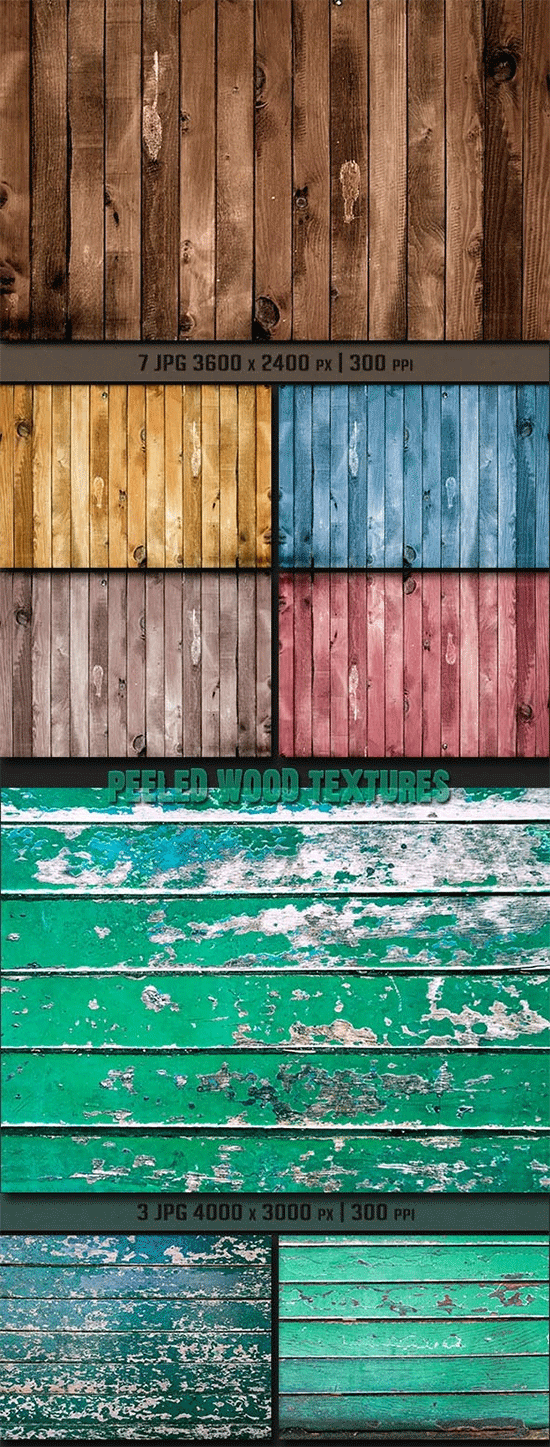 various wood textures bundle
