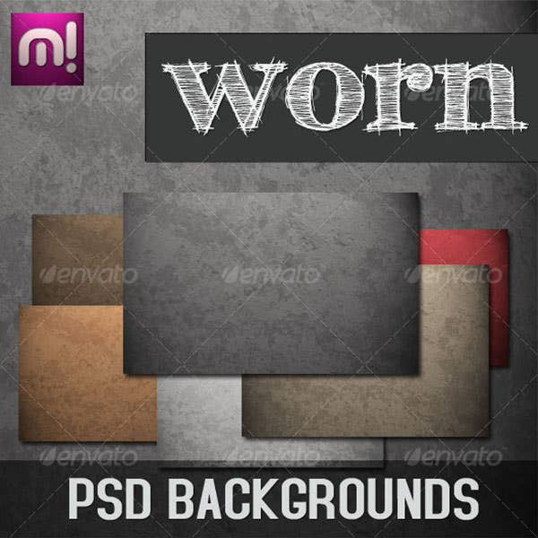 worn psd background pack