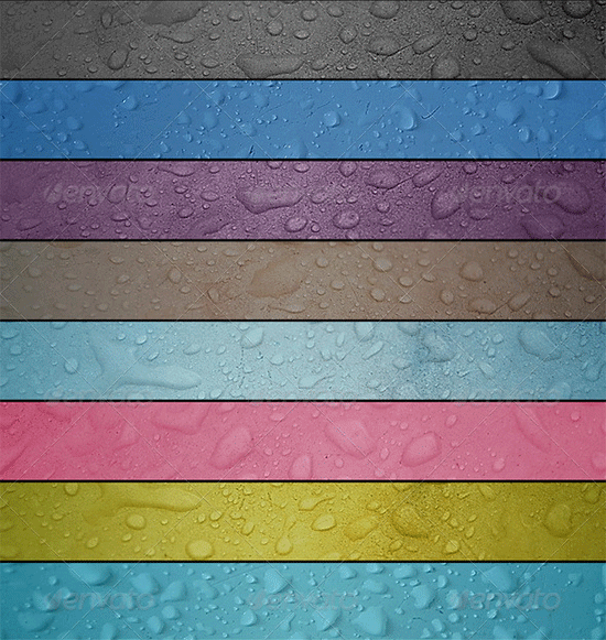 water drops textures pack