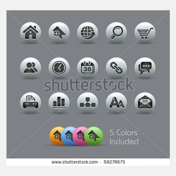 web site internet icons pearly series