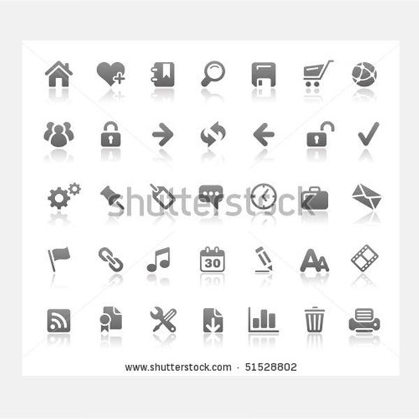 website internet icons