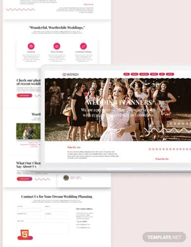 wedding bootstrap landing page template