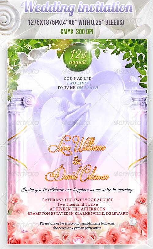 wedding invitation psd templates