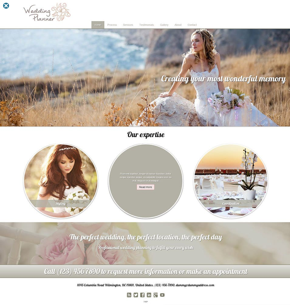15 best wedding event planner website templates free premium templates. Black Bedroom Furniture Sets. Home Design Ideas