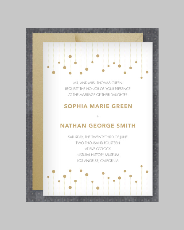Winspear Wedding Invitation Template