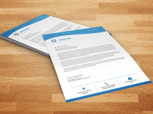 Fresh design a4 letterhead template word 32 word letterhead templates free samples examples format download spiritdancerdesigns Image collections