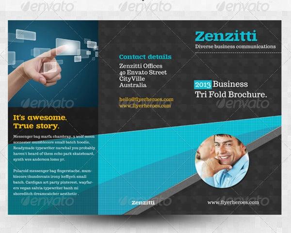 zenzitti a4 trifold brochure template