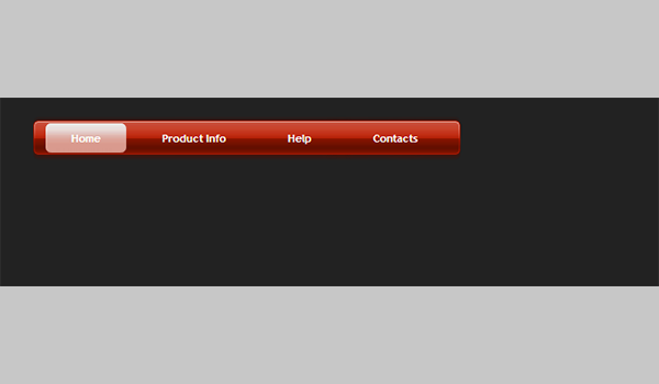 jQuery Menu Drop Down Style 04 (Red)