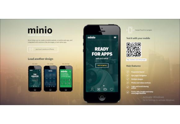 minio mobile business html template