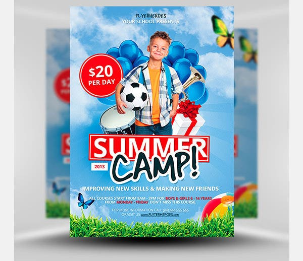 occer camp flyer template