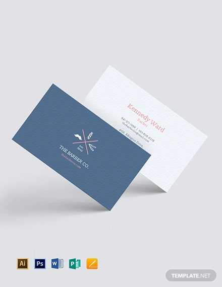 personal barber business card