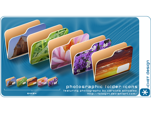 photographic folder icons