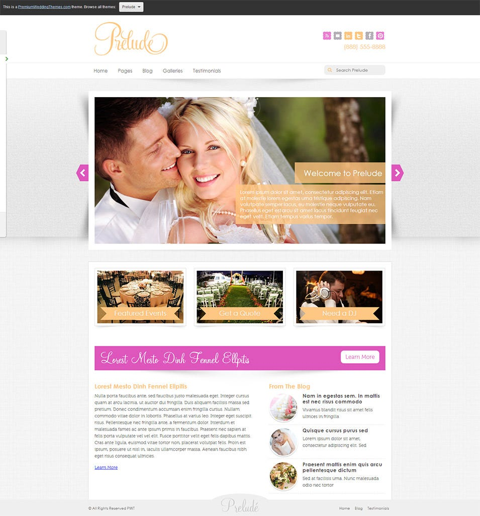 19 best wedding event planner website templates free premium