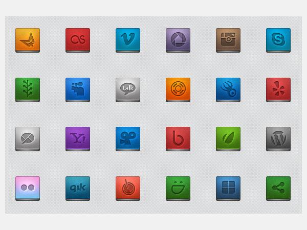 social media icons 3197