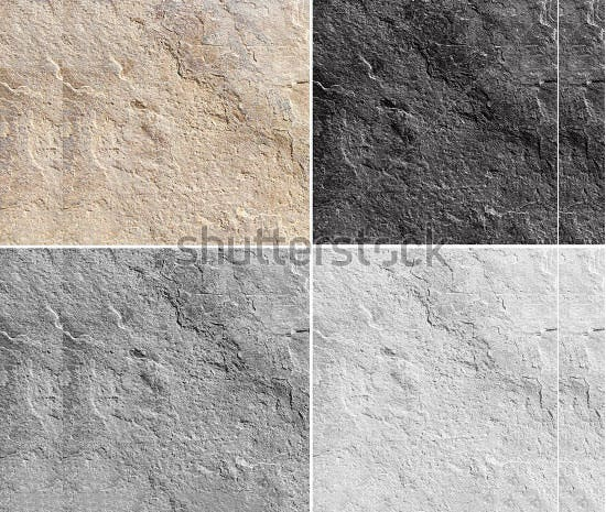 stone tile in different colors
