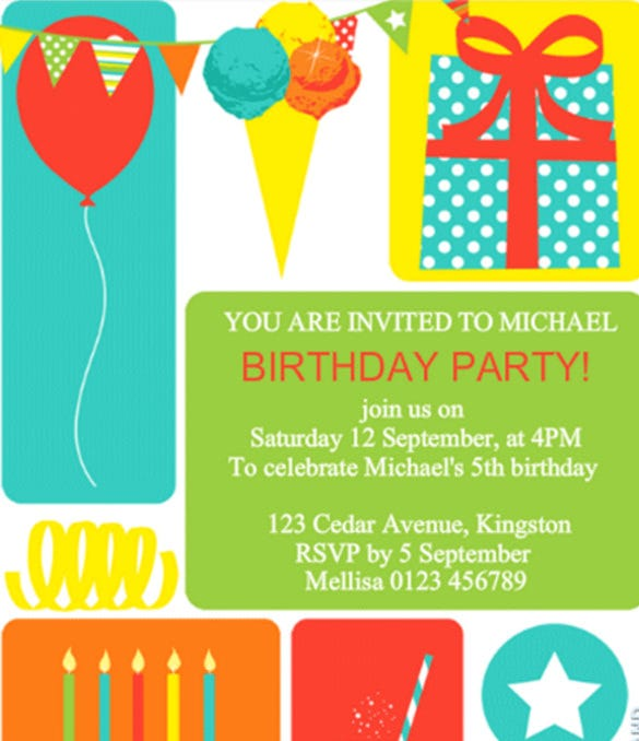 colorful childrens party