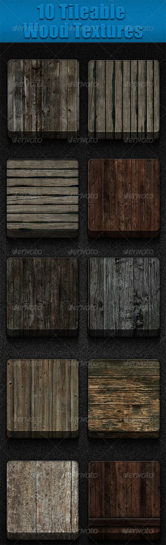 10 tileable wood textures