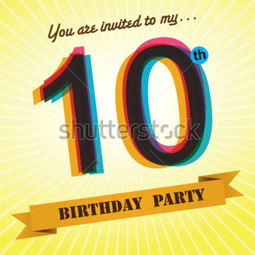 10th birthday party invite