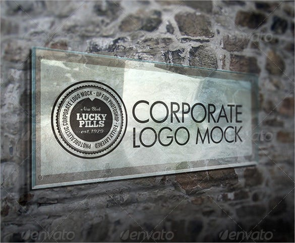 corporate logo mockup vector eps ai illustrator template