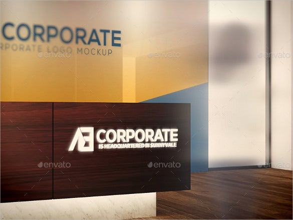 corporate logo mockups eps vector download