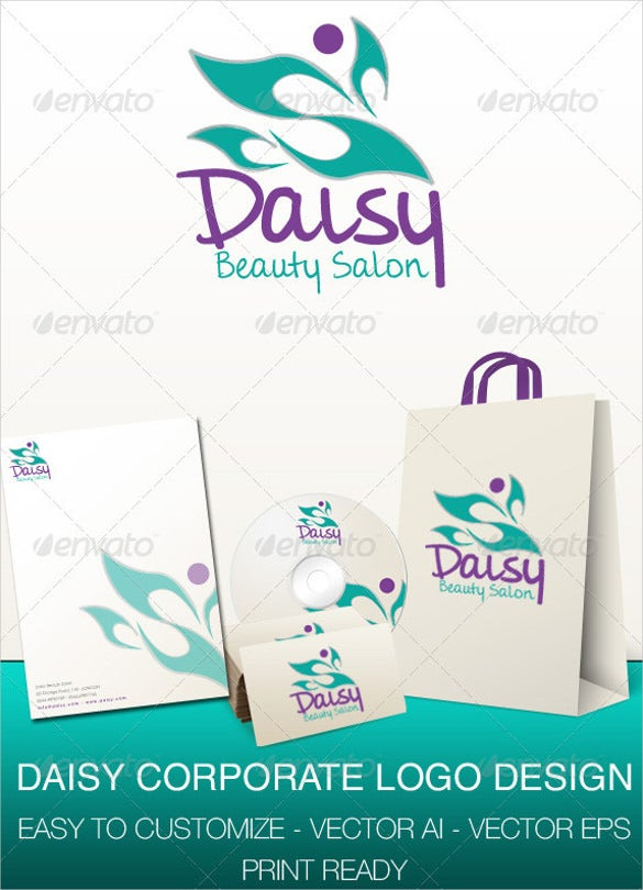 daisy corporate logo design template