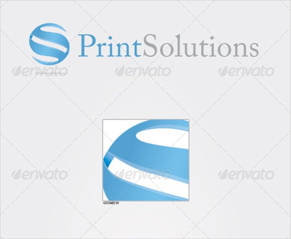print solutions corporate logo design template