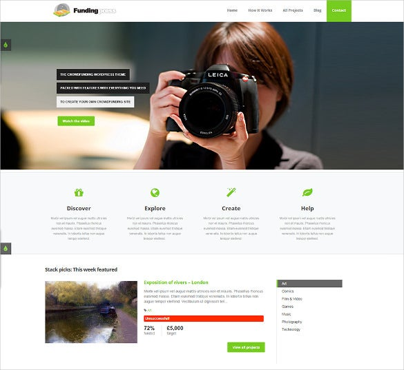 modern crowdfunding wordpress theme
