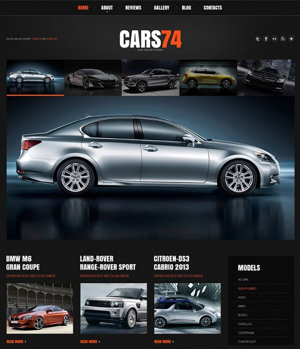 responsive car dealer wordpress theme
