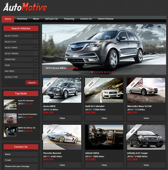 premium automotive dealer wordpress theme