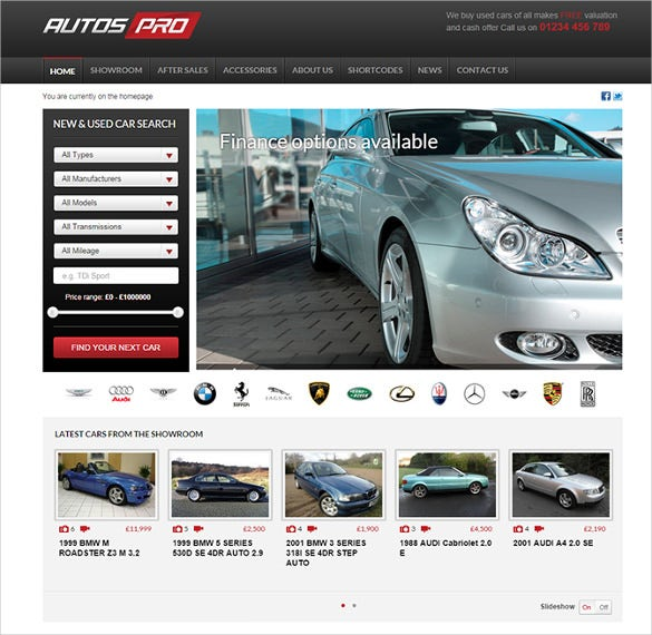 responsive automotive car dealer wordpress template