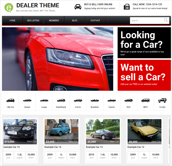 responsive clean car dealer wordpress theme