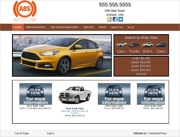 simple neat car dealer wordpress theme
