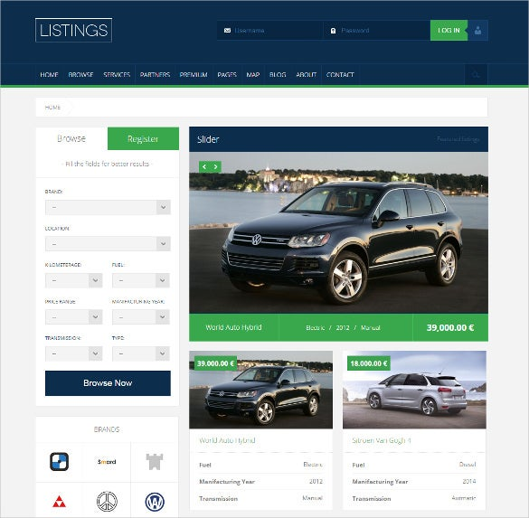 car dealer wordpress responsive listings theme
